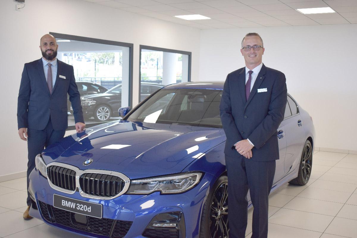 Damien Vally, chef des ventes BMW et MINI, et Philippe-Alexandre Rebboah, directeur général Leal Réunion