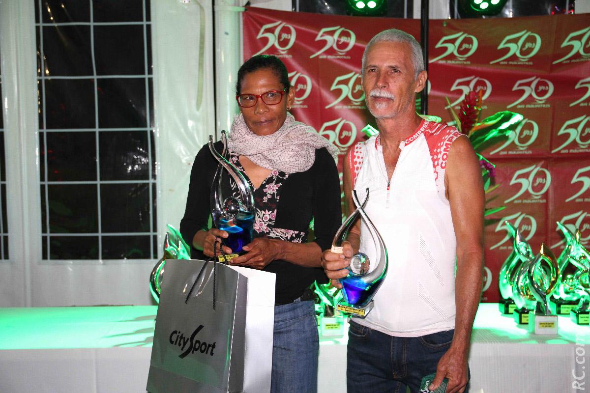 Marie Nicaise Contau  et Axel Belon, vainqueurs chez les Masters 3