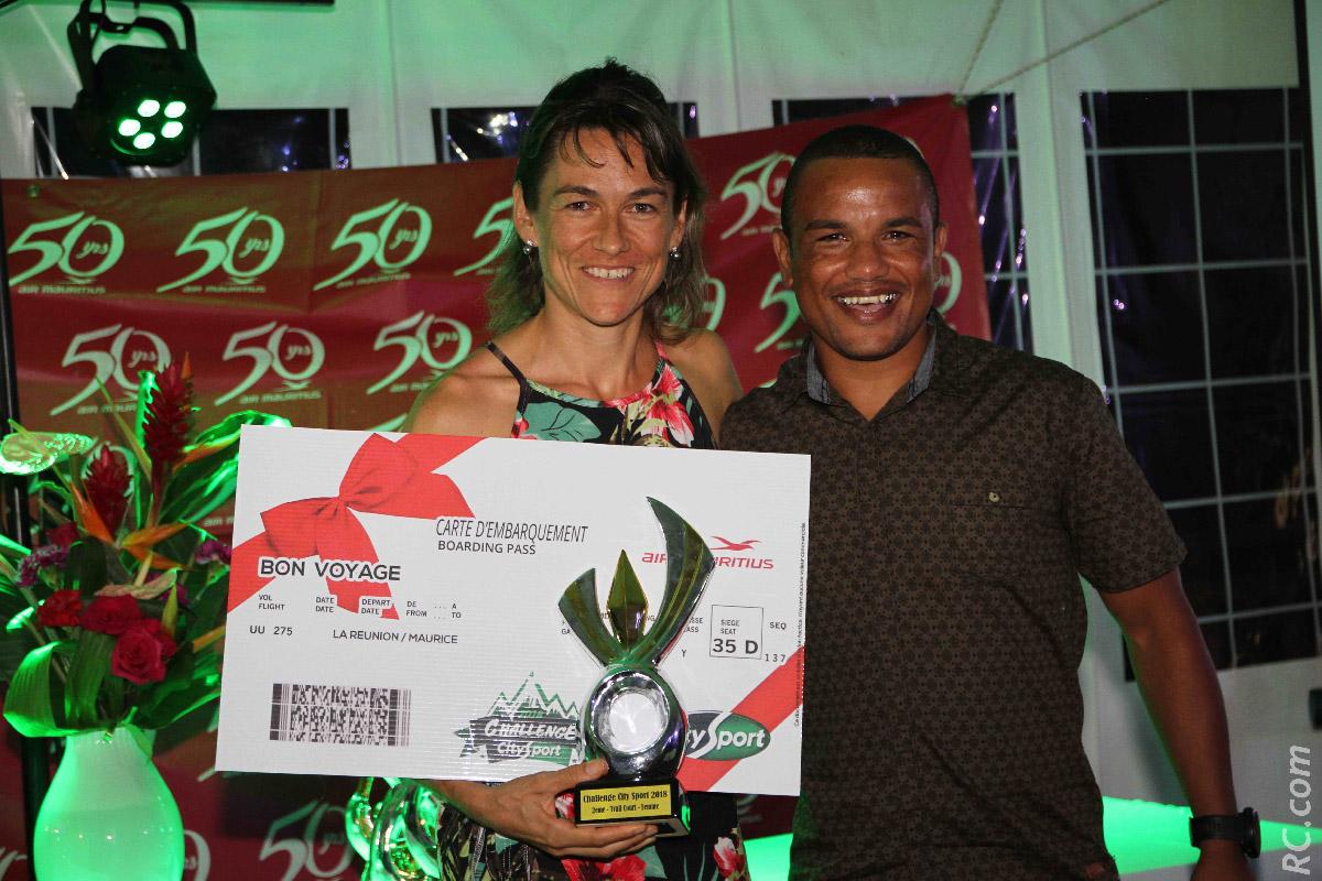 Isabelle Lebreton et Armand Sautron représentant Racing Republic à La Réunion