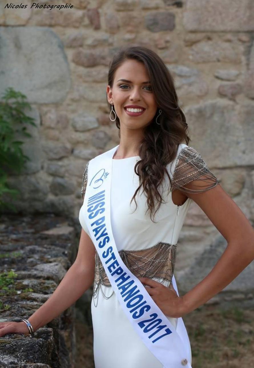 Elue Miss Pays Stéphanois, puis dauphine de Miss Loire en 2017