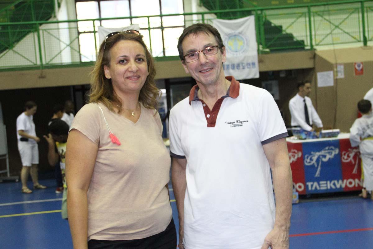 Emmanuelle Gigan et Michel Carron, 6ème Dan de Taekwondo