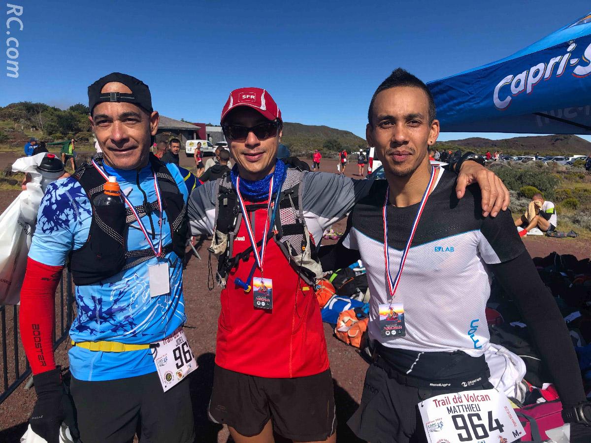 Joël, Olivier et Mathieu: trois cousins dans la course