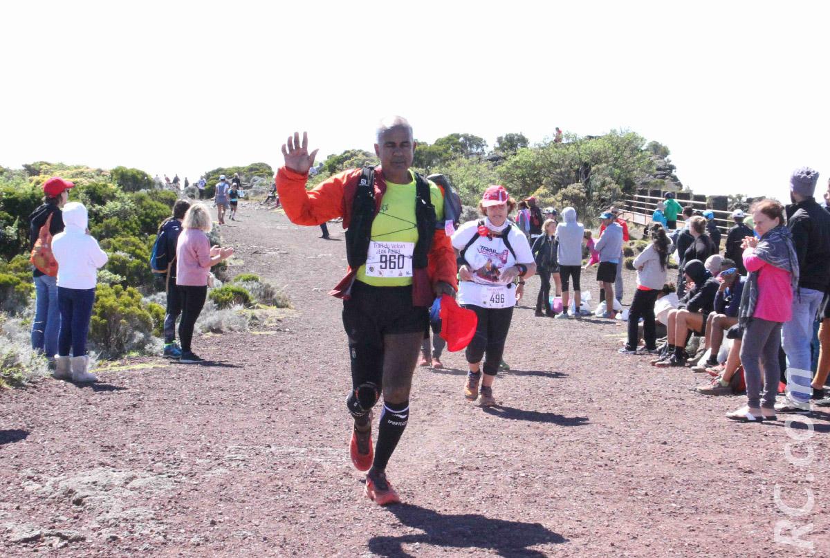 Jean-Pierre Vee, alias «saucisses d'or de La Réunion», courait son premier trail. Il y a pris goût!