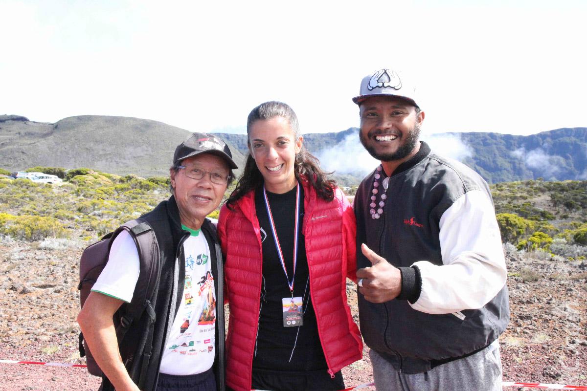 1er Trail du Volcan pour Cynthia Véron d'Antenne Réunion qui a promis de revenir