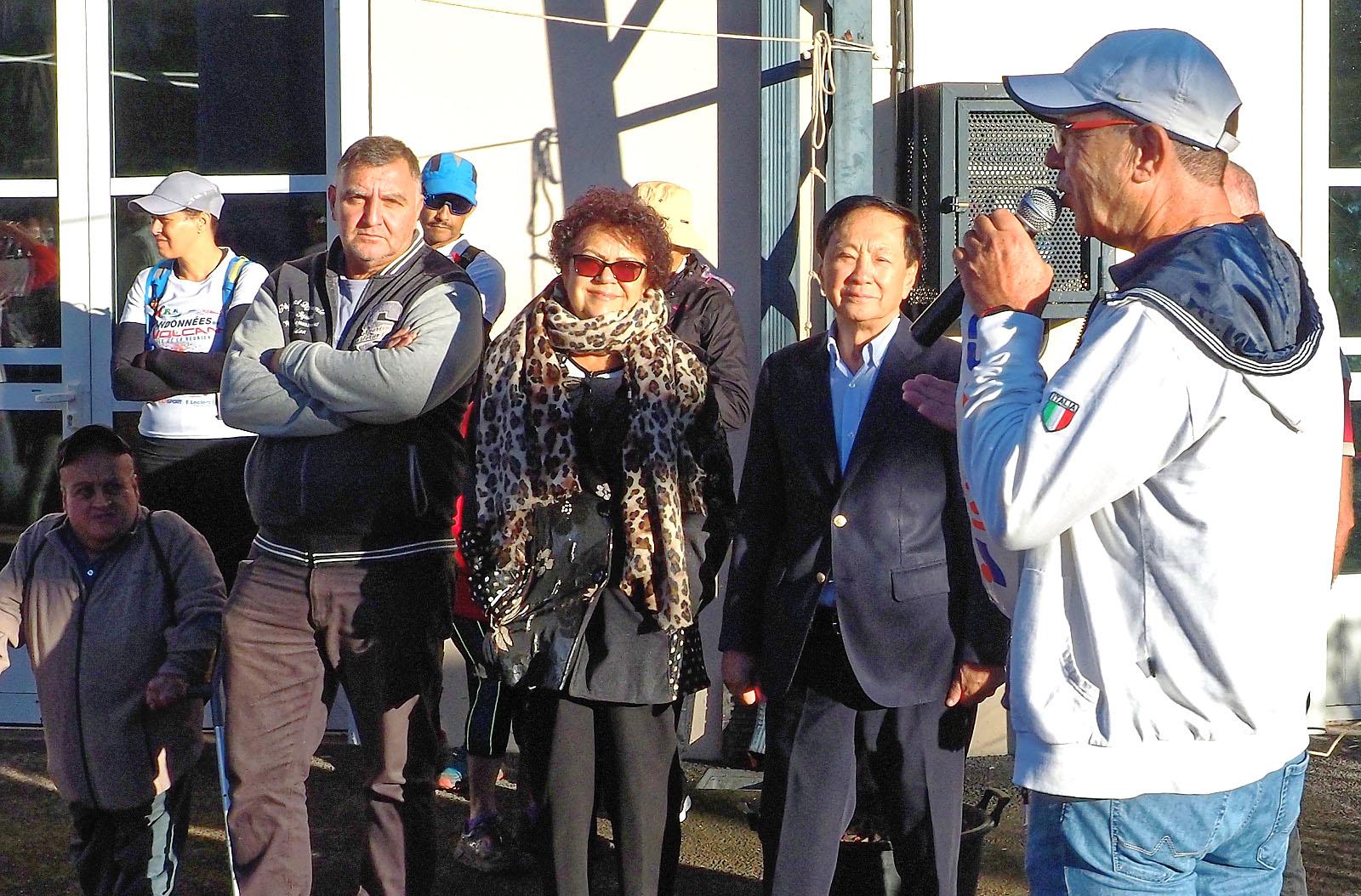 Le mot de bienvenue du président Max Hébert à André Thien Ah Koon maire du Tampon et à son adjointe Augustine Romano