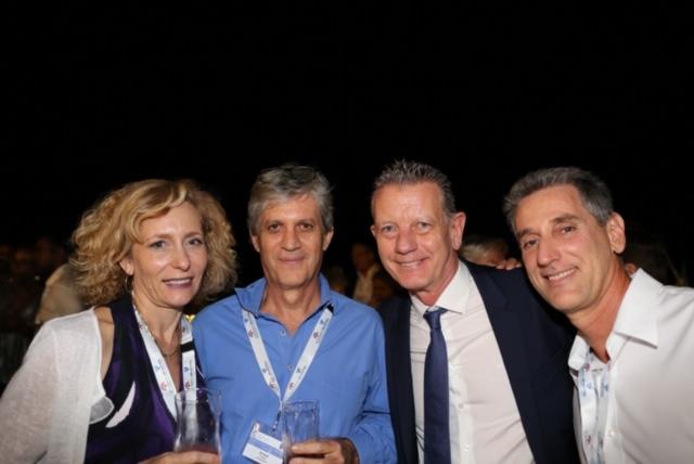 Sylvie Le Maire et son époux, Bruno Millot, président de Stor Solutions, et Arnaud Maisonnobe, groupe Macé