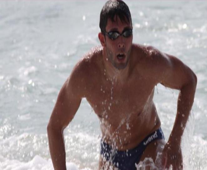 Un sacré défi pour l'ancien champion de natation!