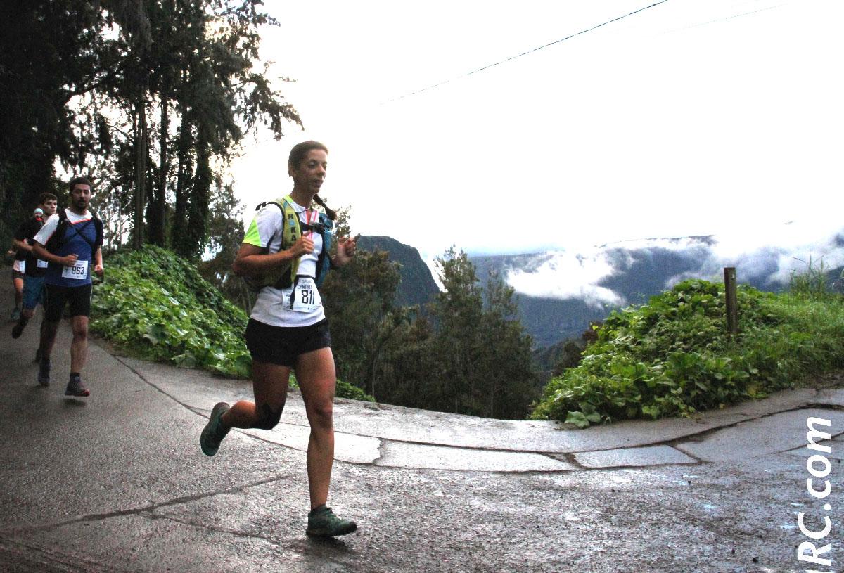 Comme au Trail du Volcan, Cinthya Véron d'Antenne Réunion a pris son pied