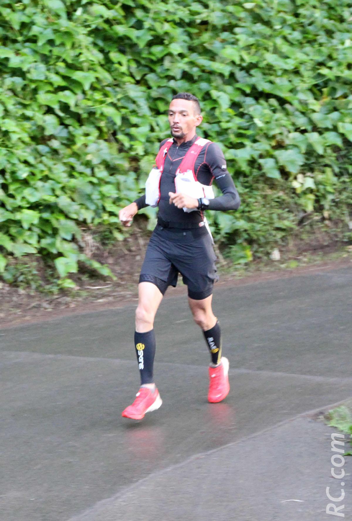 La surprise Frédédric Berrichon, sur la plus haute marche du podium du Challenge des 35 km