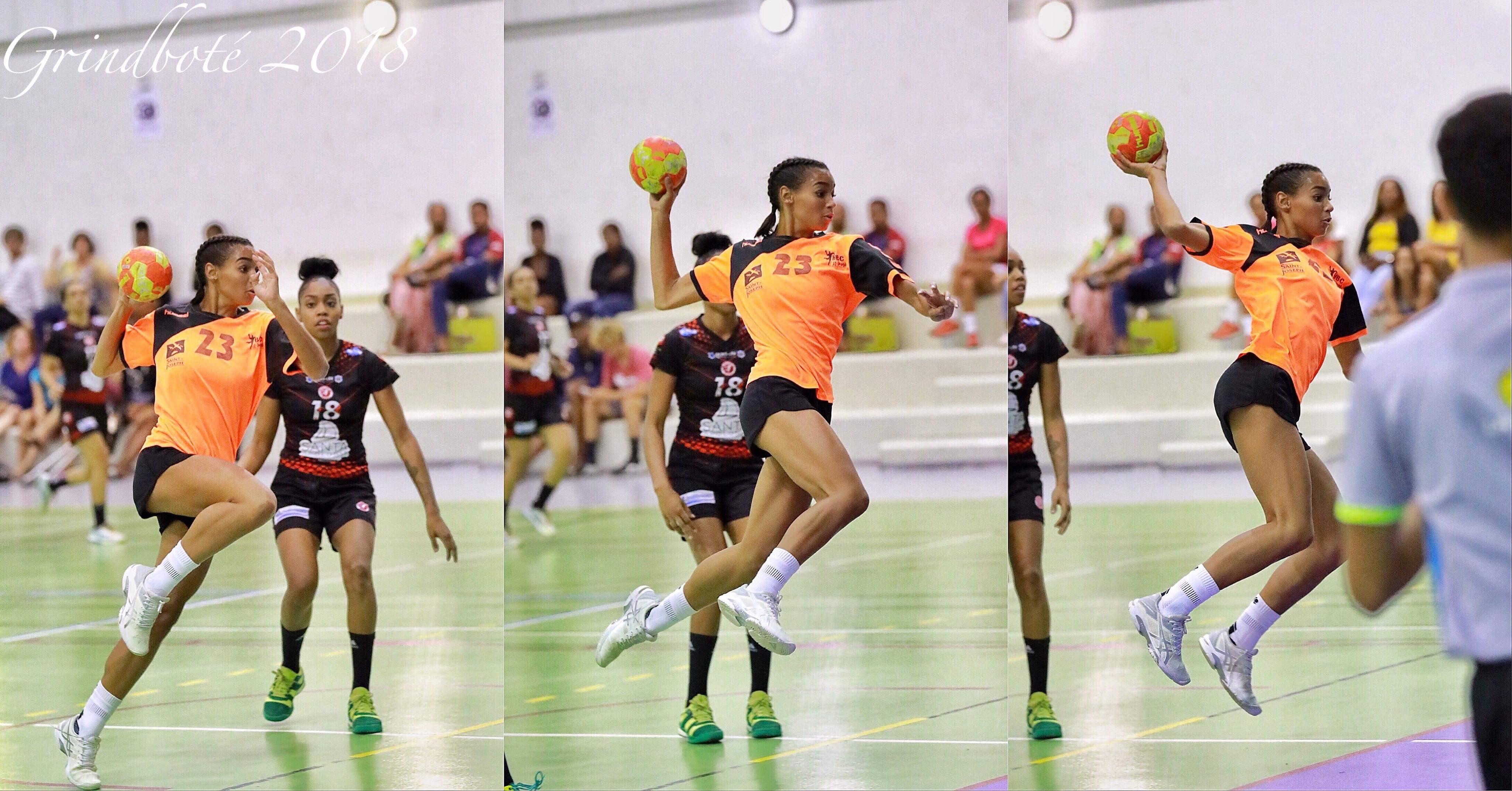 Noémie de Chantilly est une handballeuse talentueuse du club de Saint-Joseph
