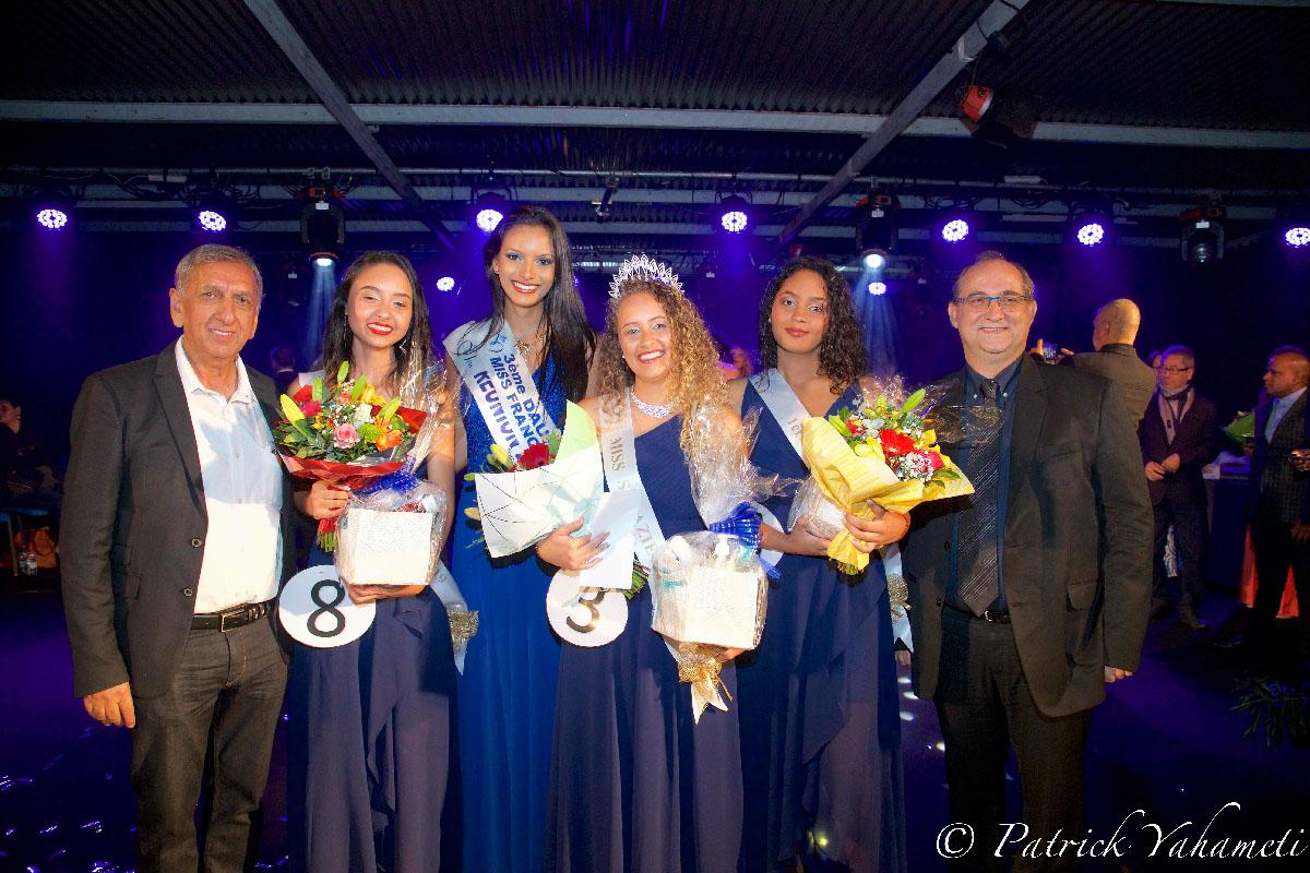 Avec Aziz Patel, délégué Miss France à La Réunion, et Stéphane Fouassin, maire de Salazie