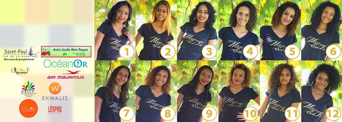 Miss Saint-Paul 2019: les 12 candidates sont...