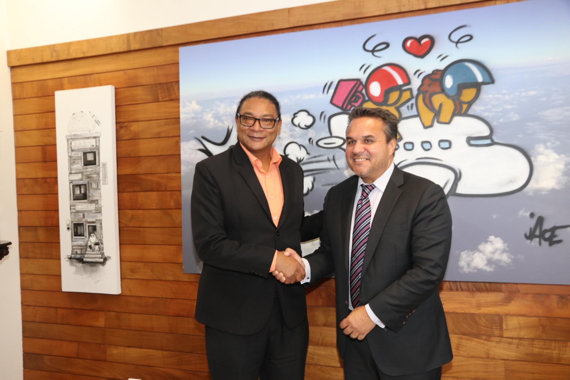 JIOI 2019: Didier Robert a rencontré le Ministre des Sports de Maurice