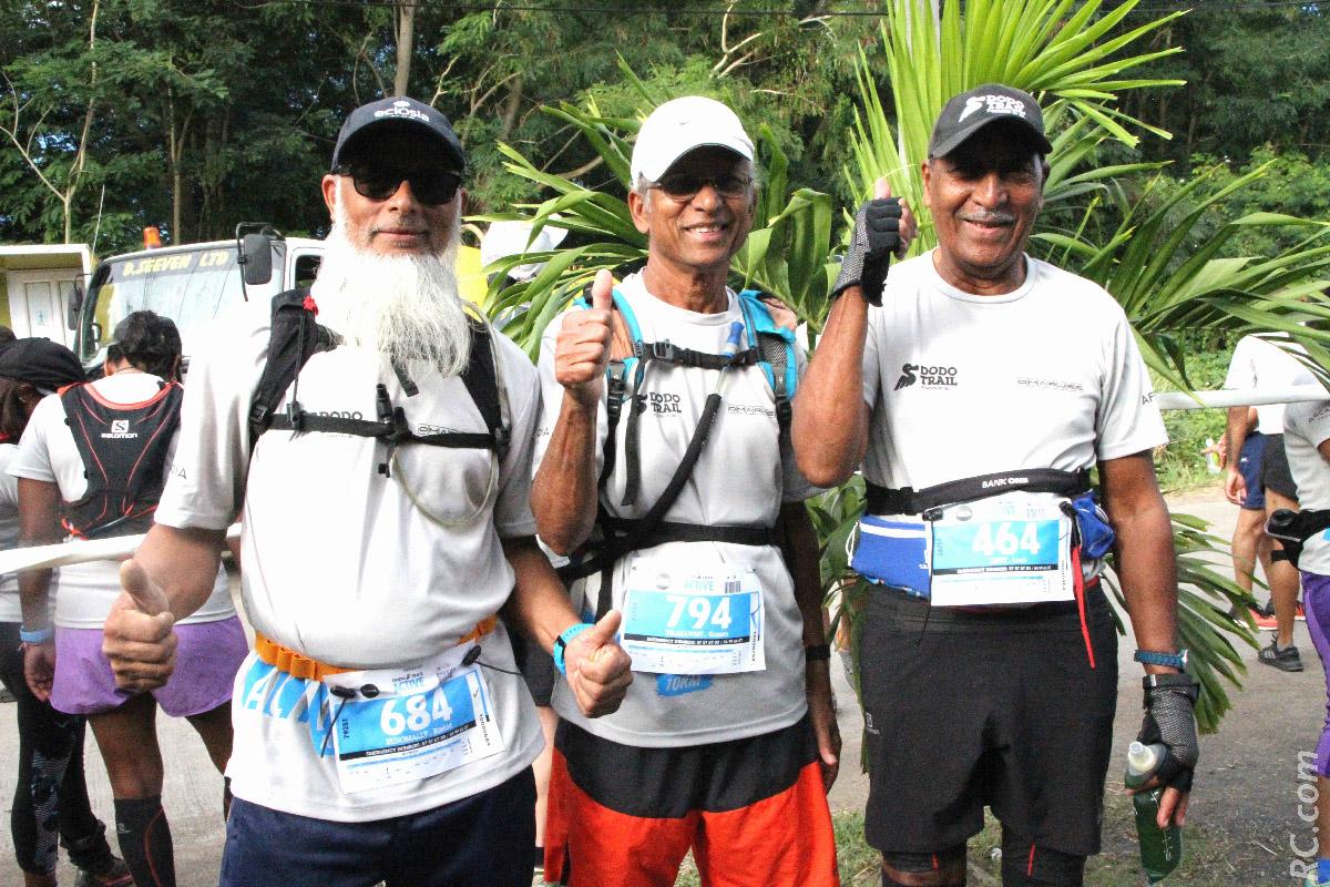Rashid Ruhsmal (60 ans), Gaslen Virassawmy (73 ans), et Louis Leste (80 ans): les masters donnent l'exemple!