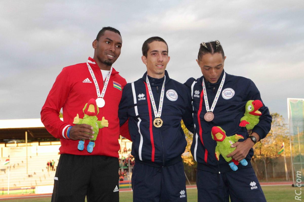 La première médaille d'or Réunionnaise en athlétisme est obtenu par Jérémy Hubert à la perche