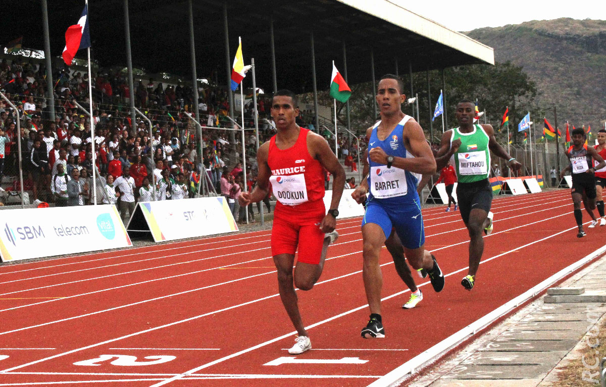 Sur le 1500m, Ruddy Barret ne s'est pas laissé imprtessionner par ses adversaires