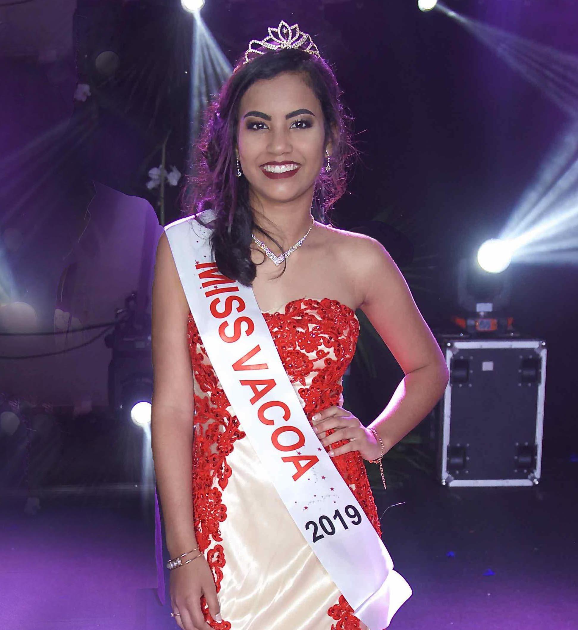 Frideline Mouniama, Miss Vacoa 2019