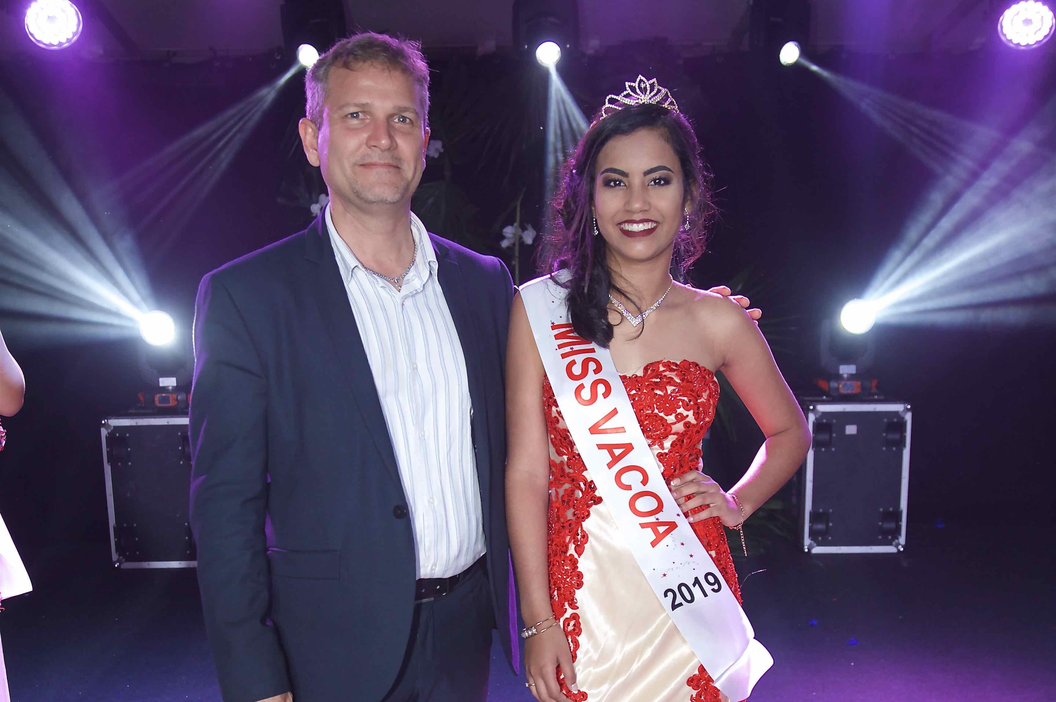Olivier Rivière et Miss Vacoa 2019