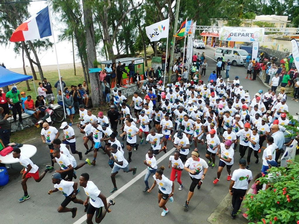 Une course populaire était organisée en parallèle