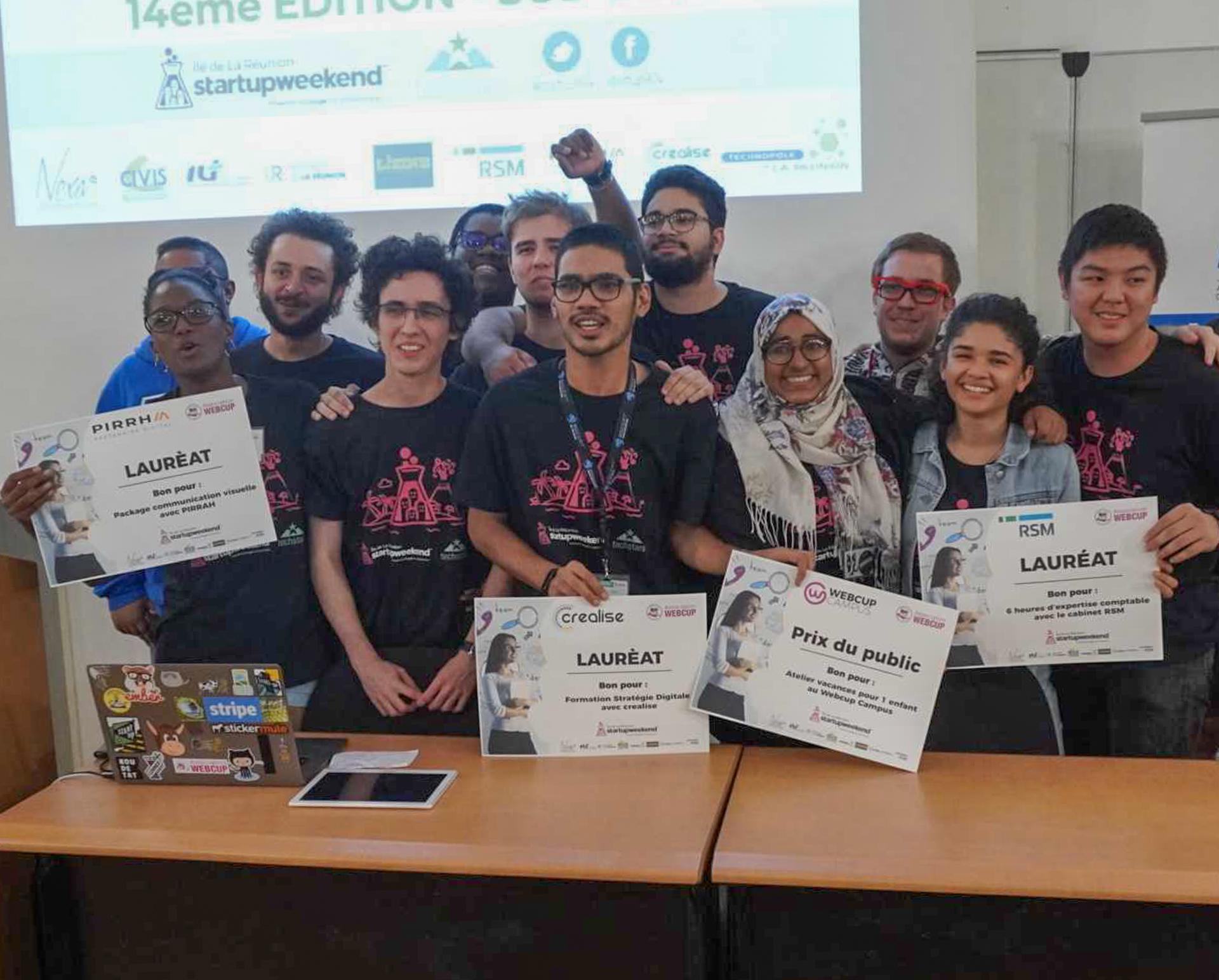 Les gagnants du Startupweekend