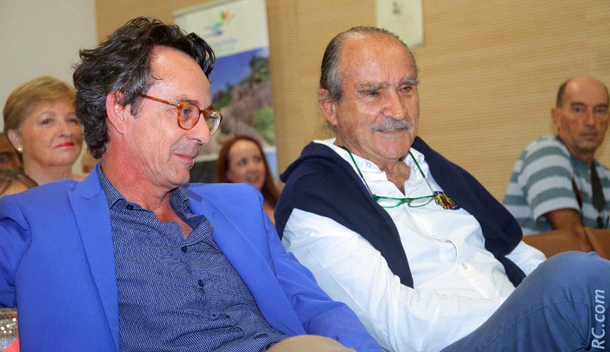 Sthépane André de Ilop et Robert Chicaud, président de l'association Grand Raid