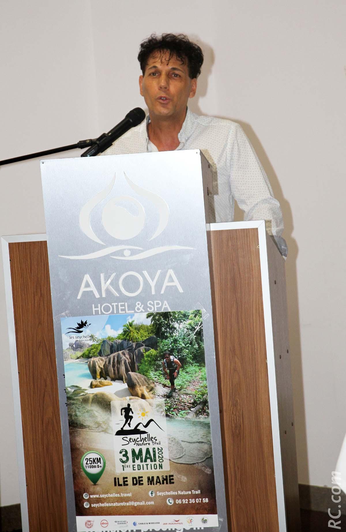 Chris Hammer a présenté «son bébé», les Seychelles Nature Trail. Avec toute la passion du trail qui le caractérise...
