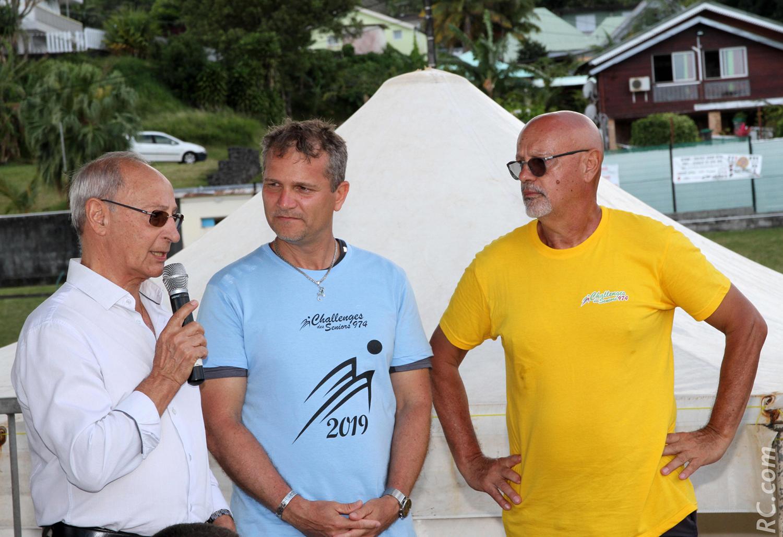 Bernard Hoareau de Proxim' Services, Olivier Rivière et Philippe Fontaine
