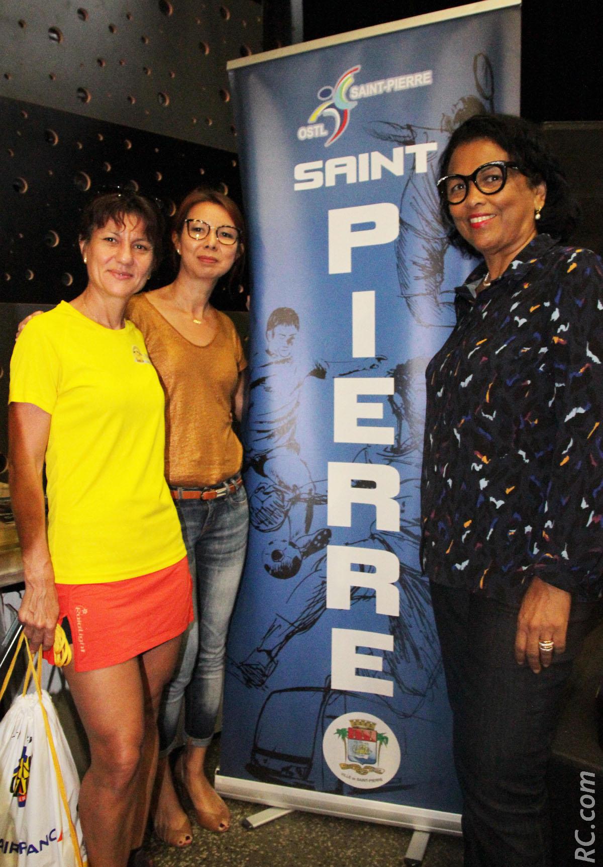 Alexandra Clain, Sandrine Aho-Nienne et Béatrice Sigismeau