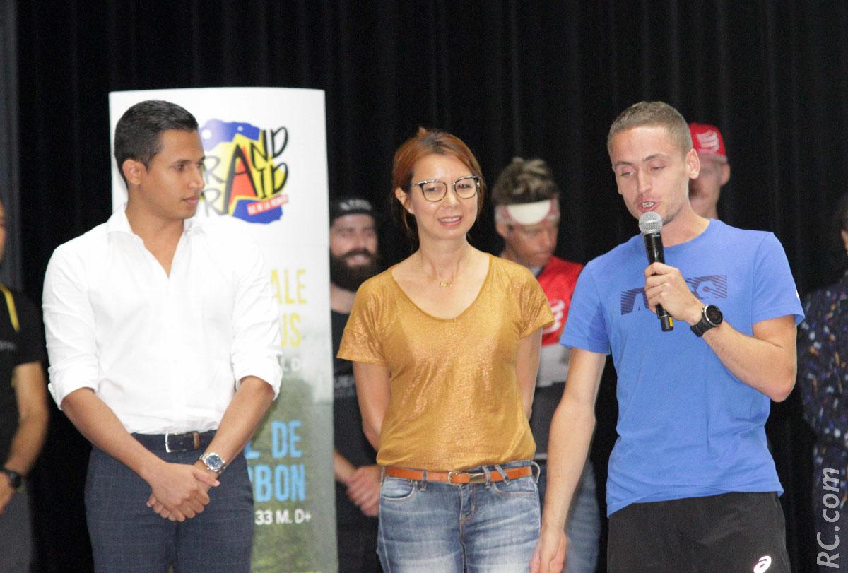 Frédéric Vavelin, directeur de Destination Sud Réunion, Antoine Guillon et Sandrine Aho-Nienne, adjointe au maire de Saint-Pierre