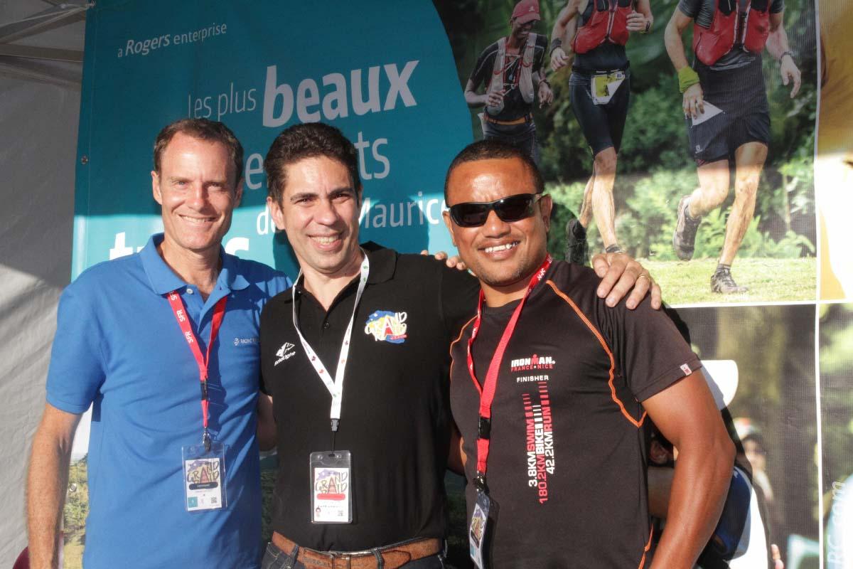 Albert D'Unienville de Racing Republic, Frédéric Bénard de l'association Grand Raid et Armand Sautron