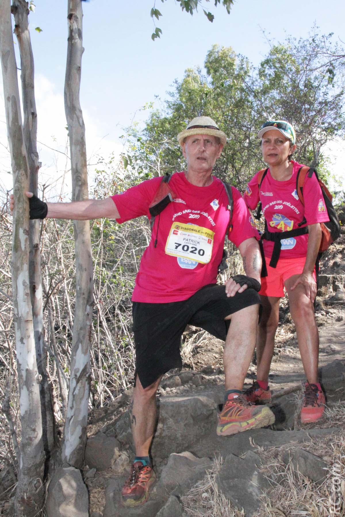 Patrick Lefèvre, président de Réunion Joëlette Aventure (RAJ) et son épouse Annick