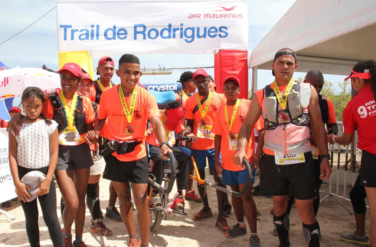 Les joëlettes de la Fondation Père Favron, pour la 3ème année consécutive à Rodrigues