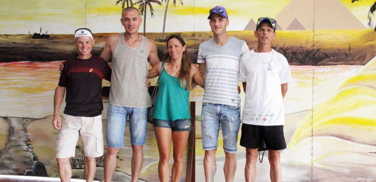 La Team City Sport avec Jean-Louis Robert, Bertrand Vienne, Julie Rivière, Florian Durque et Joseph Robert