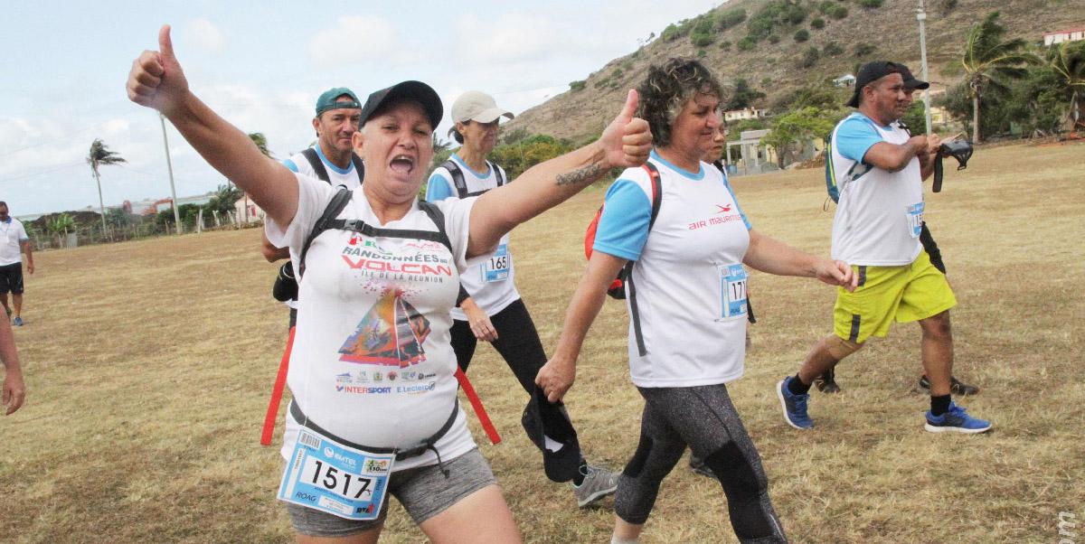 Le maillot du Trail du Volcan porté fièrement au Trail de Rodrigues:  Allez la Réunion!