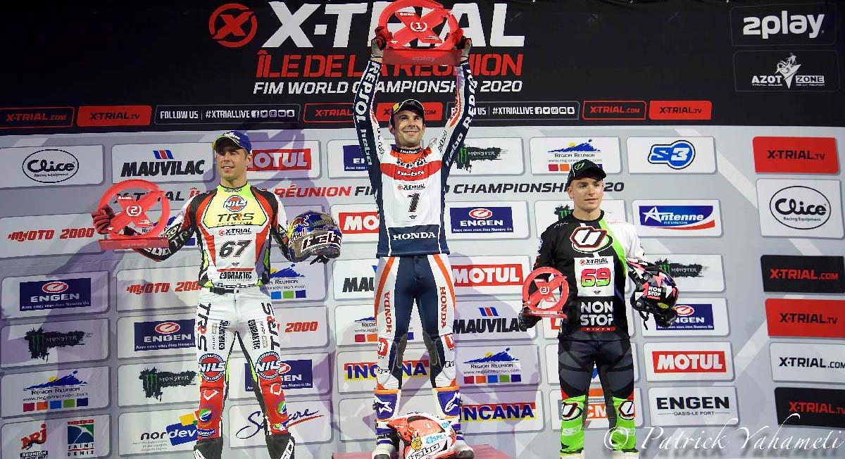 Le podium: Toni Bou, Adam Raga et Jaime Busto