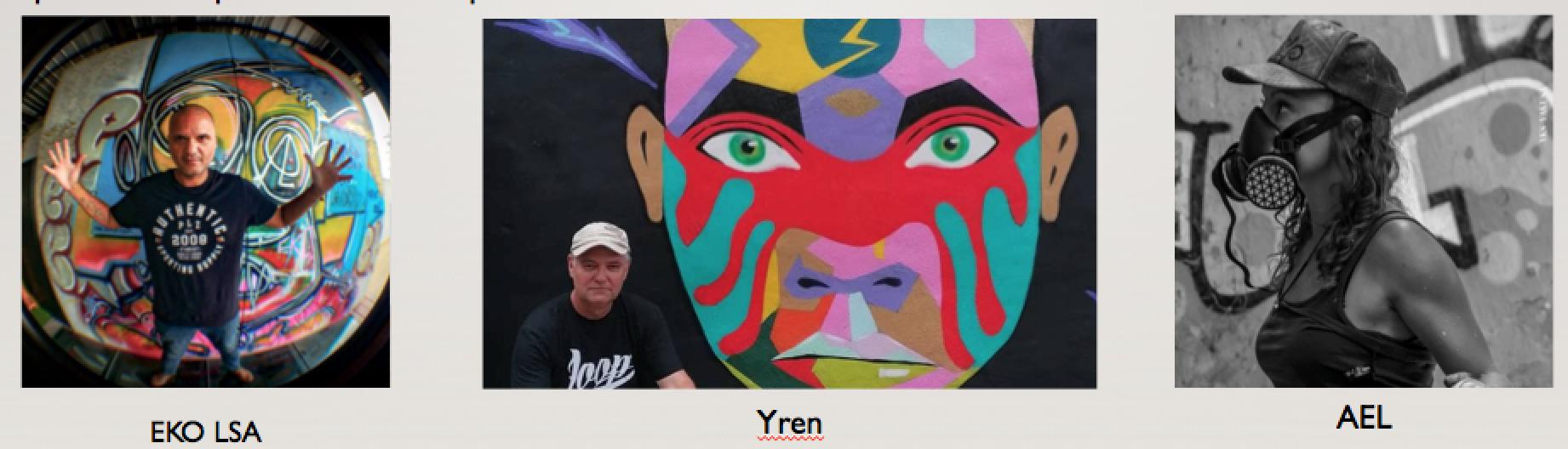Les 3 autres artistes qui exposeront à Saint-Paul avec les 6 de Miami