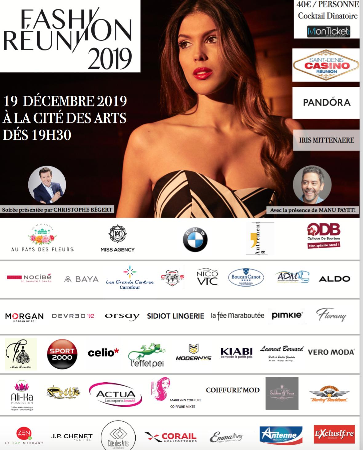 Fashion Réunion 2019: rdv jeudi 19 décembre avec Iris Mittenaere et Manu Payet