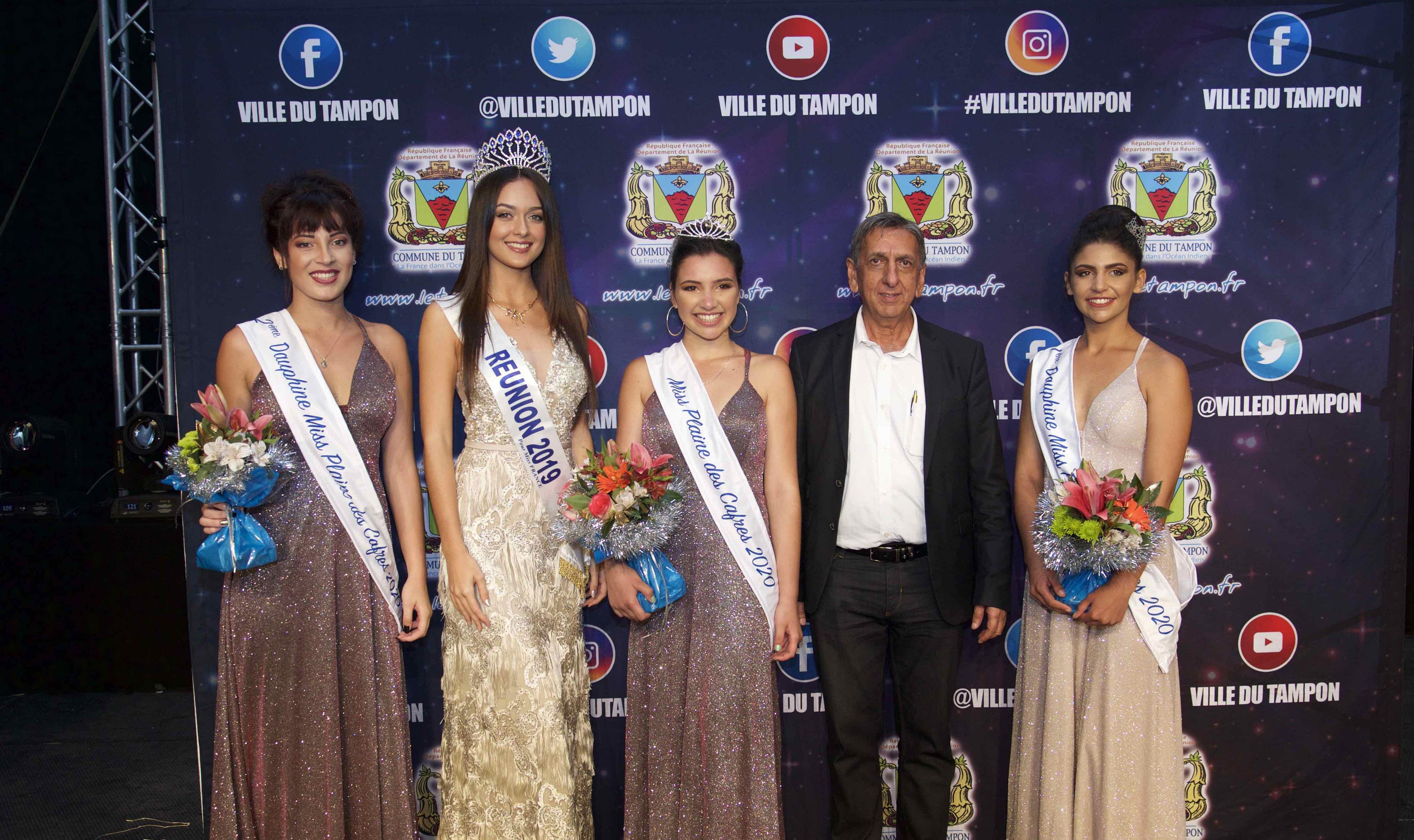 Avec Morgane Lebon, Miss Réunion 2019, et Aziz Patel du Comité Miss Réunion