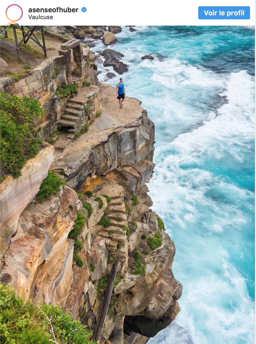 La falaise maudite de Diamond Bay... C'est vrai qu'elle est tentante pour qui veut prendre des photos!