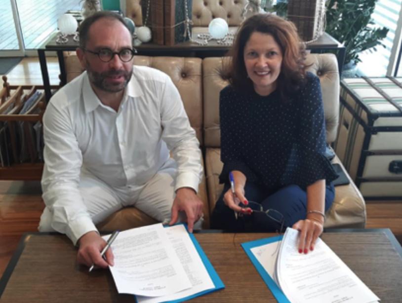 Gérald Cavalier, président du groupe Cemafroid-Tecnea, et Yolaine Payet, présidente du SYREF