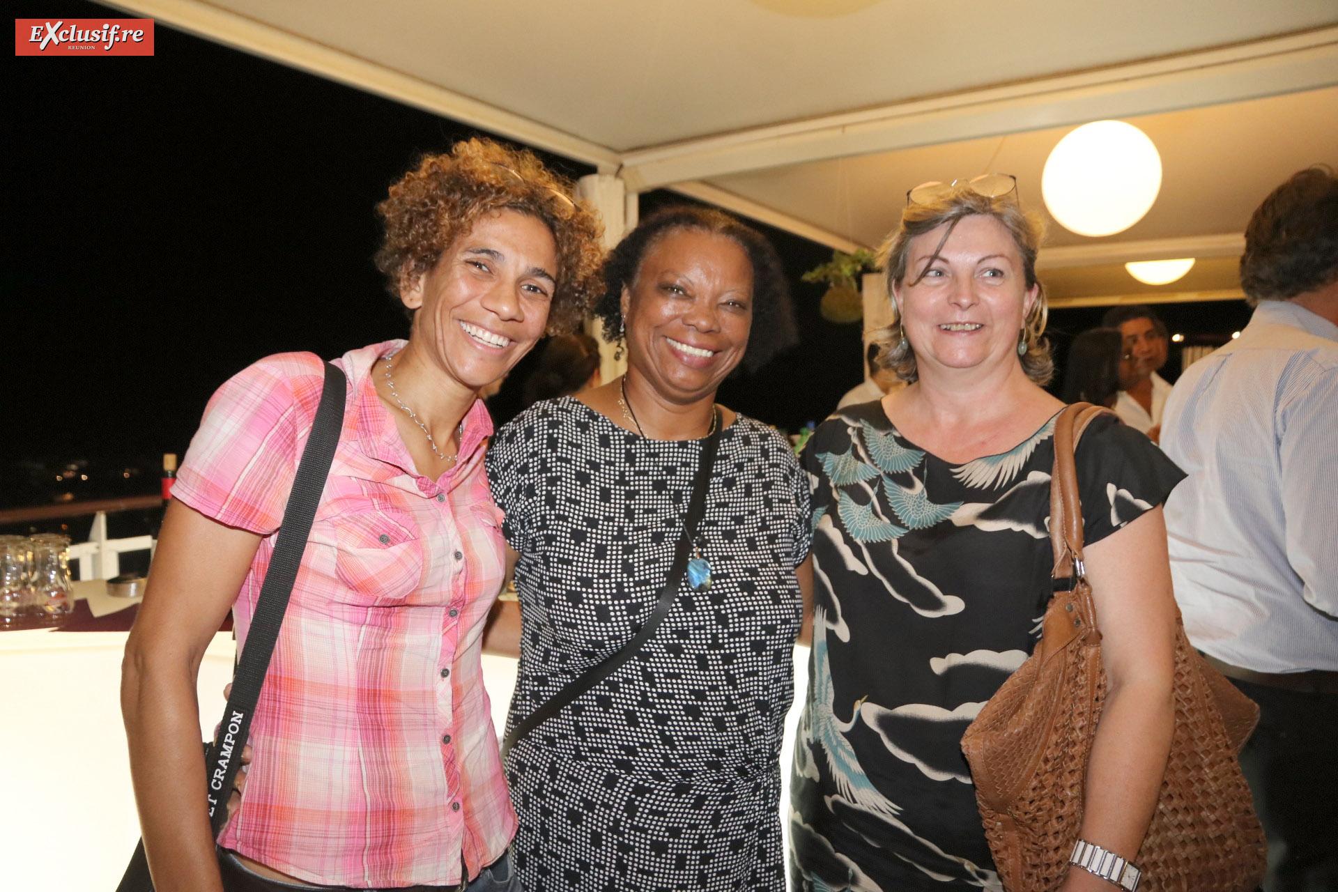 Estelle Kitegi, chargée de mission CFORM, Marie-Laure Dalleau, secrétaire au SICR, et Marie-Laure Morère, gérante CFORM
