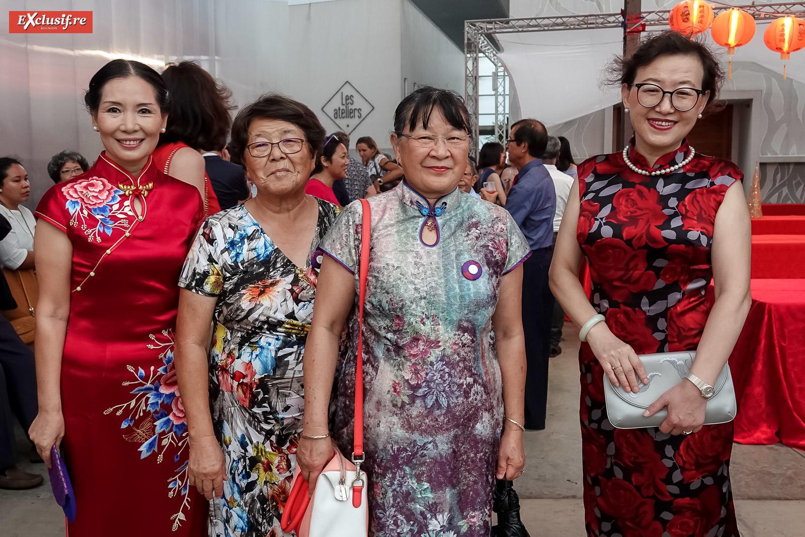 Dong Zhijiao, une invitée, Marie-Ange Durrieu, de l'association Dragon Boat, et Yang Qing, vice-consule générale