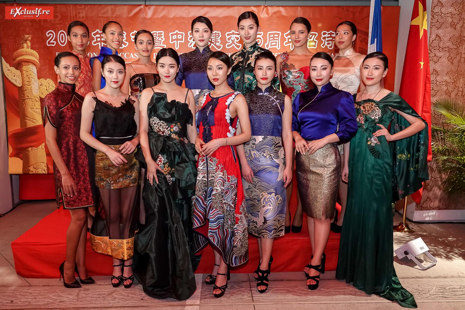 Les mannequins de Chine et de La Réunion du défilé