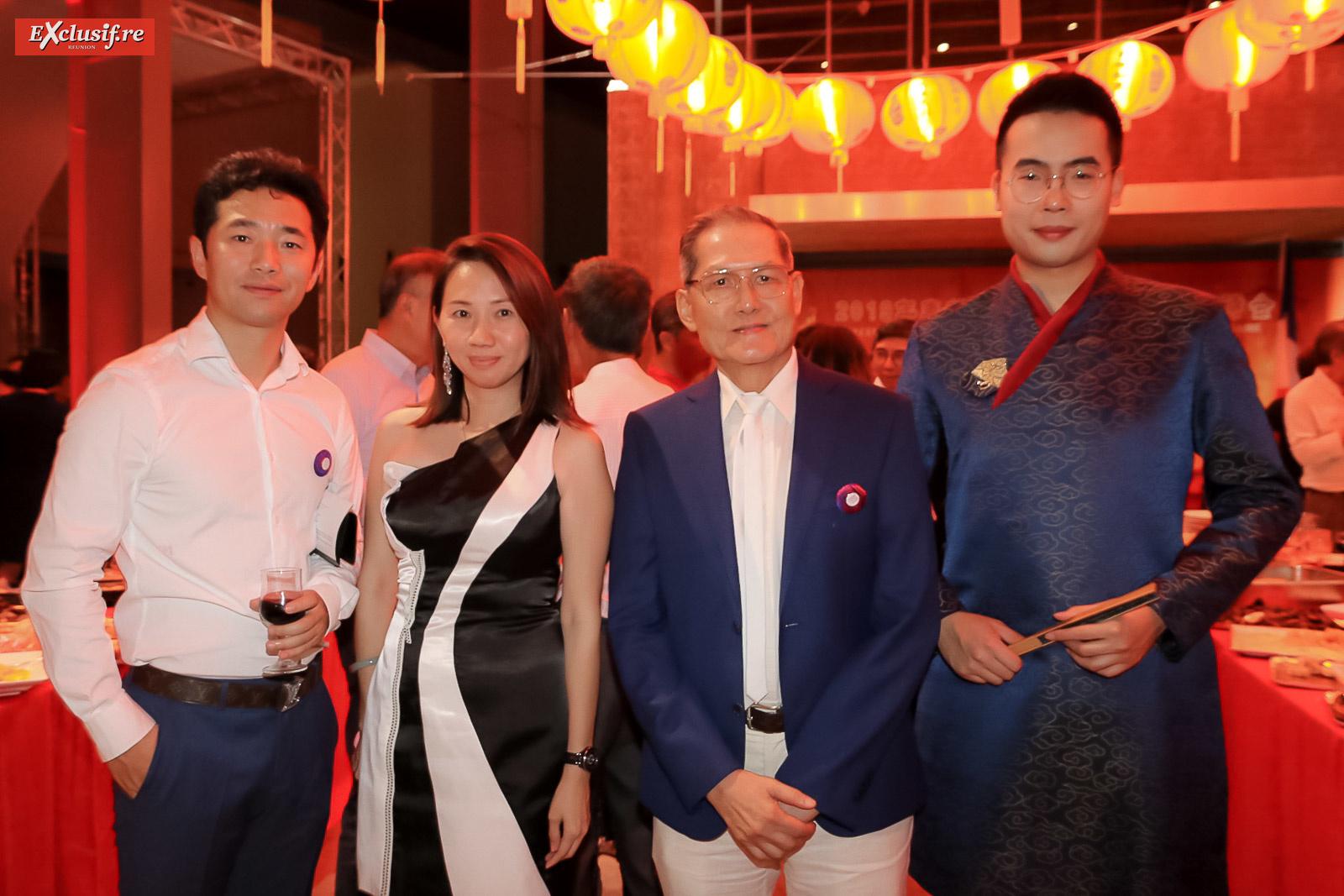 Wang Néo, Karine Aein, Marcel Fock Sun, de Studio Universal, et un membre du groupe de Nanjing