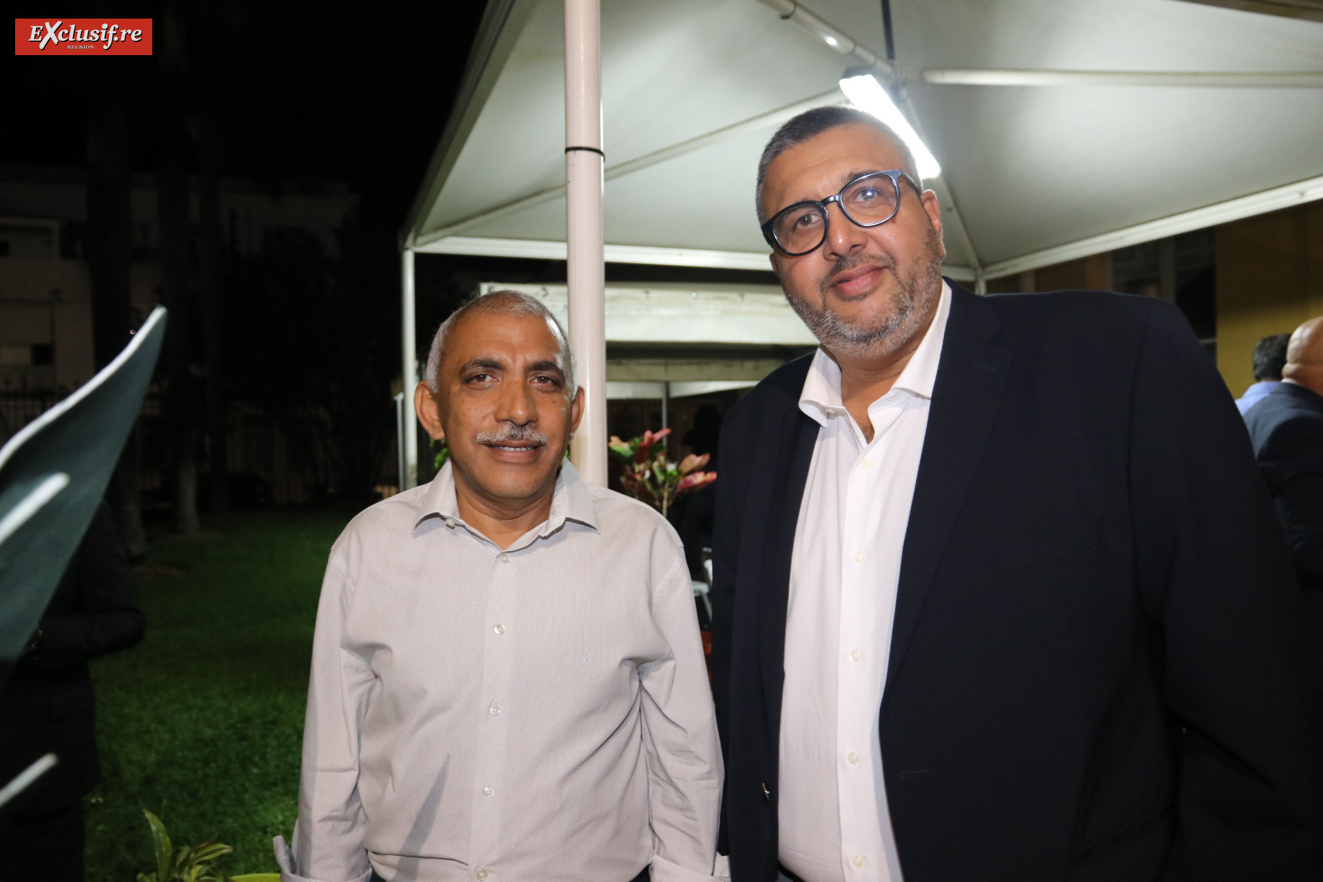 Abdullah Badat, chargé prospective économique mairie de Saint-Denis, et Haroun Gany, vice-président de la Chambre des Métiers