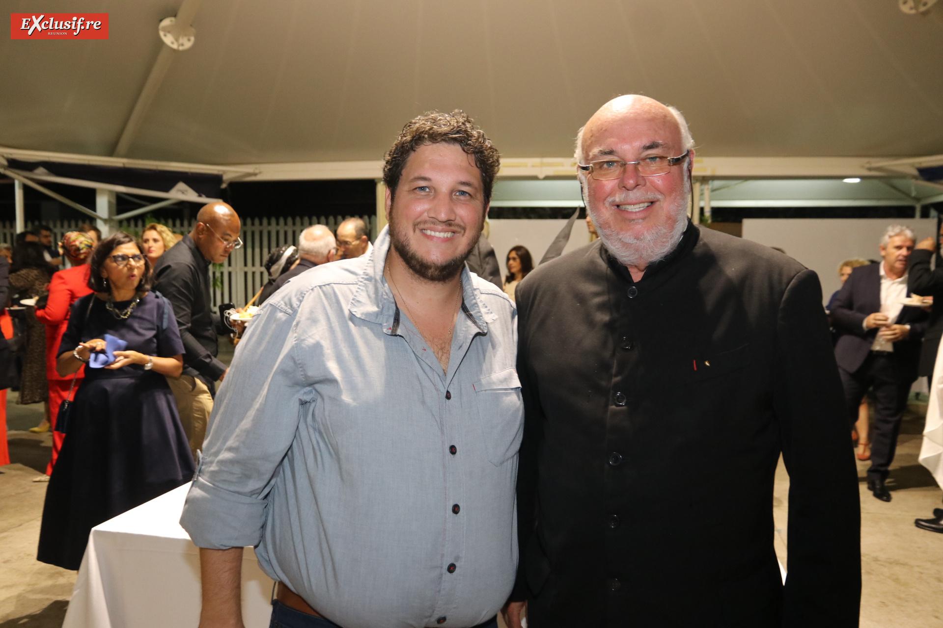Frédéric Foucque (en noir), président OTI Nord, et un invité