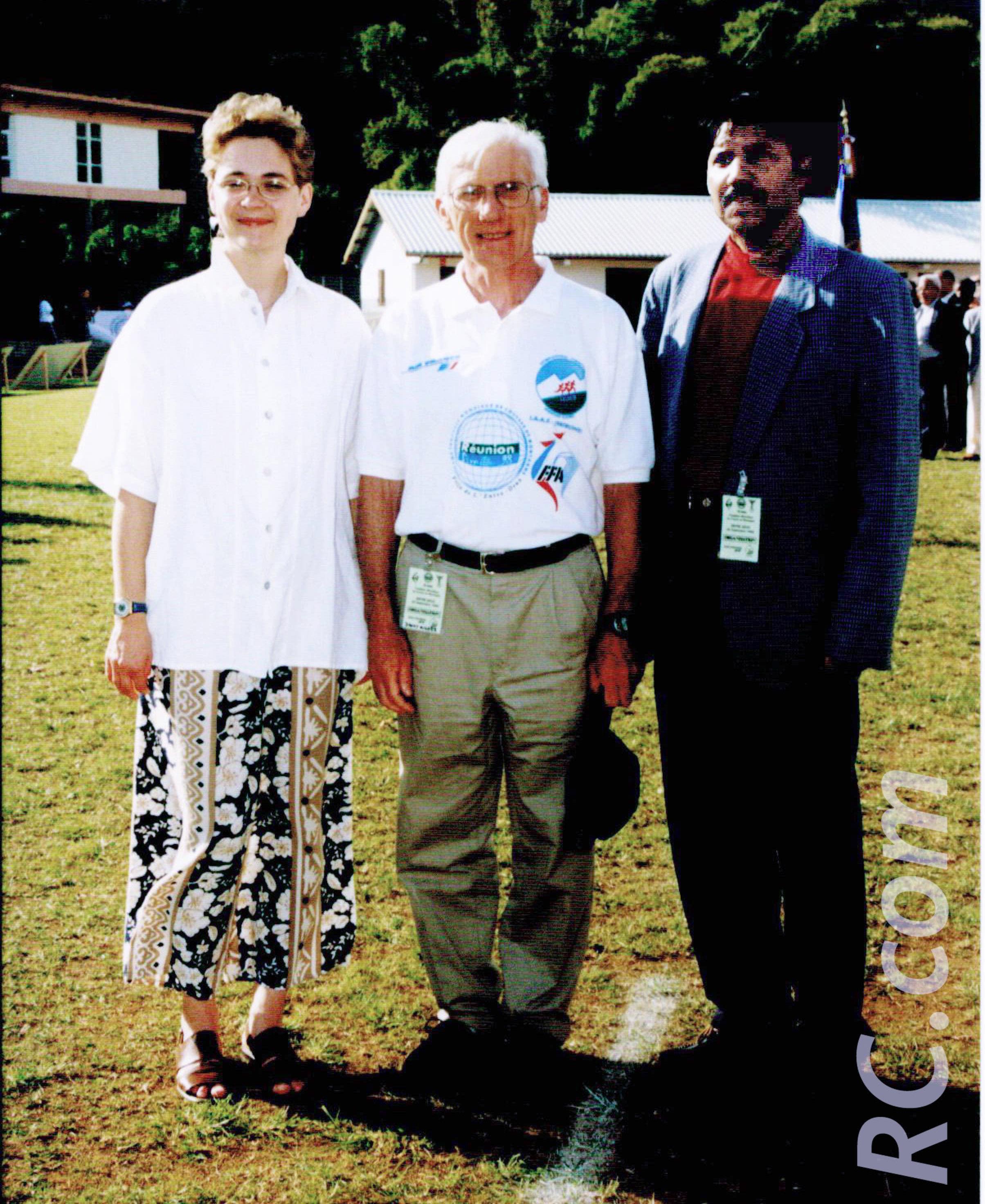 Paul Canaguy, président de la Ligue Réunionnaise d'Athlétisme, et des officiels venus de l'extérieur