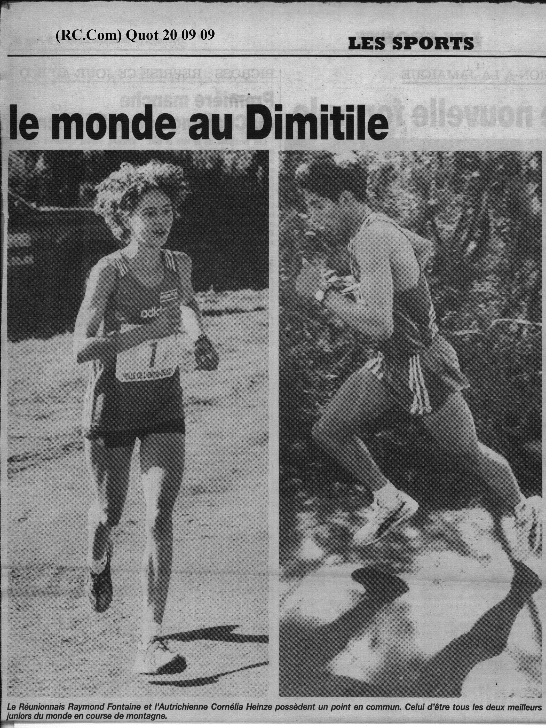 Trophées Mondiaux de course de montagne 1998 à l'Entre-Deux