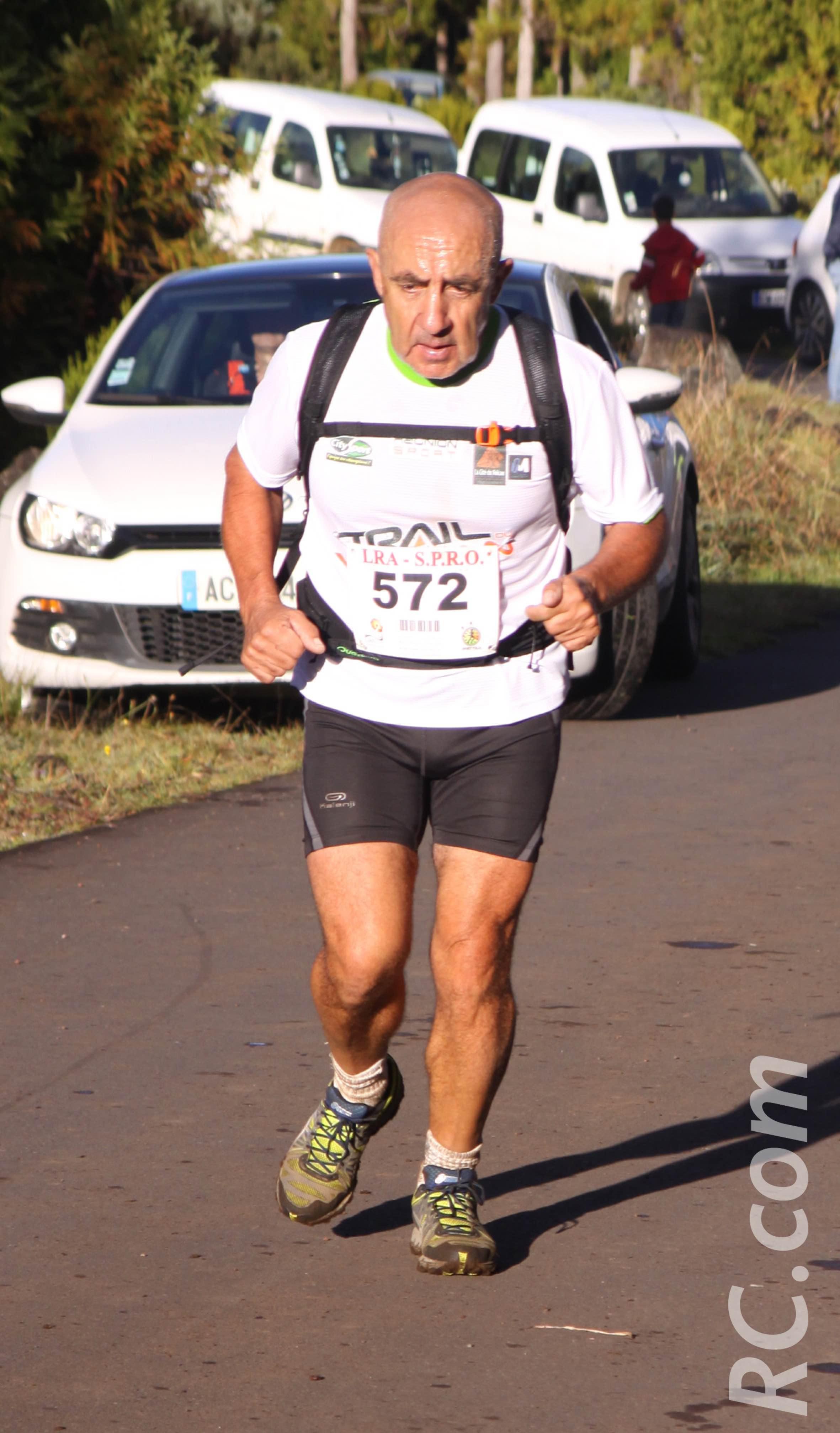 Michel Fontaine de l'ONF dans la course