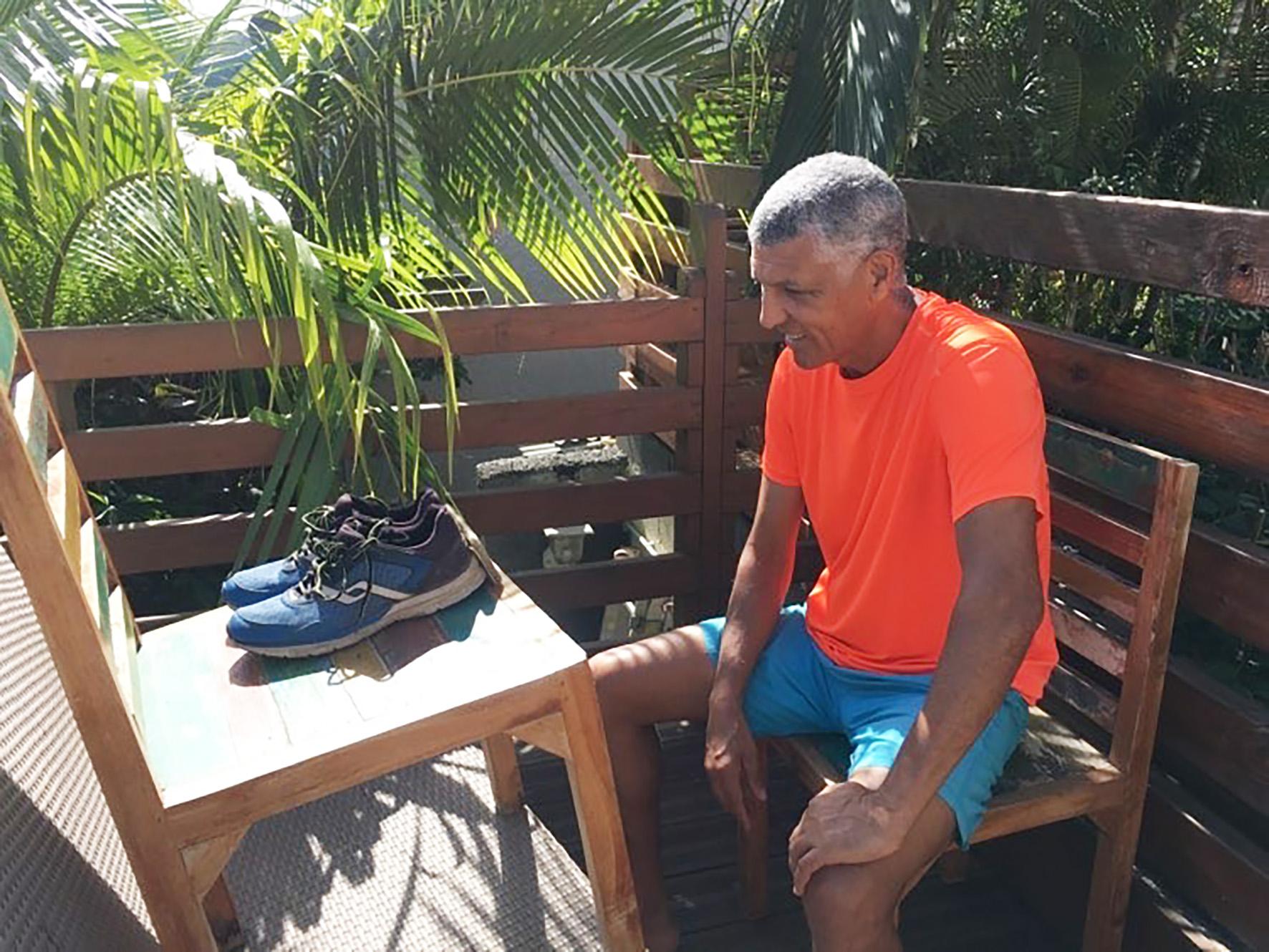 Jean-Louis Prianon continue de «courir» derrière les athlètes... pour des interviews